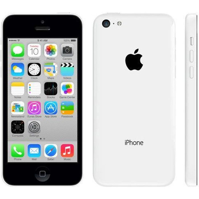 apple iphone 5c 4g 8gb blanc achat smartphone pas cher. Black Bedroom Furniture Sets. Home Design Ideas