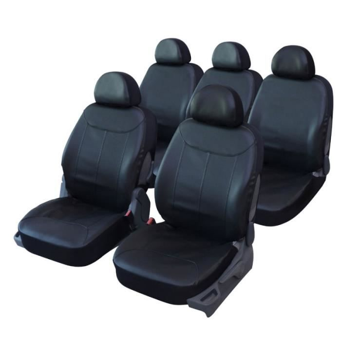 housses de si ge en simili cuir noir pour citroen xsara picasso qd220 achat vente housse. Black Bedroom Furniture Sets. Home Design Ideas