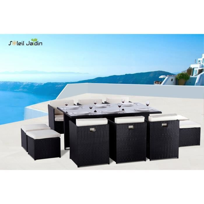 salon de jardin 10 places en r sine tress e aroma achat. Black Bedroom Furniture Sets. Home Design Ideas