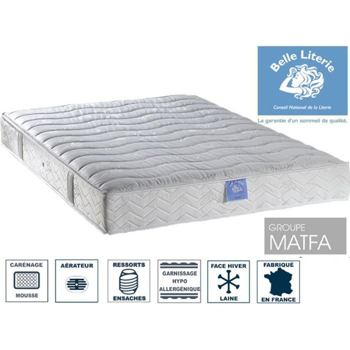 matelas passion 22cm belle literie par ameline achat vente matelas cdiscount. Black Bedroom Furniture Sets. Home Design Ideas