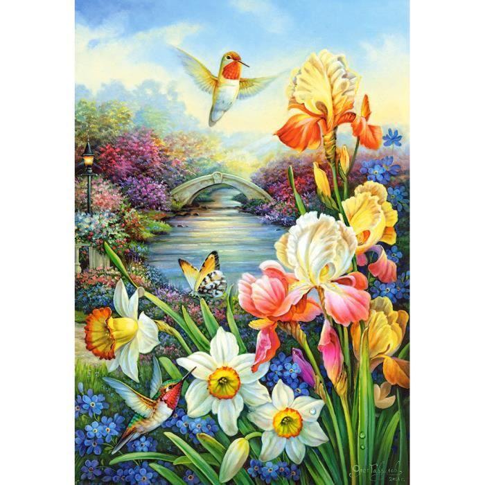 PUZZLE Puzzle 1500 pièces Golden Irises