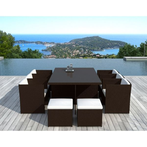 salon de jardin canc n r sine tress e chocolat achat. Black Bedroom Furniture Sets. Home Design Ideas