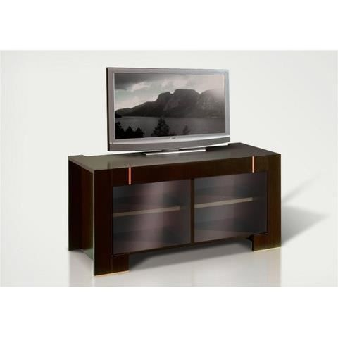 meuble tv avec portes vitrees moderne wenge avec eclairage supplementaire achat vente meuble. Black Bedroom Furniture Sets. Home Design Ideas