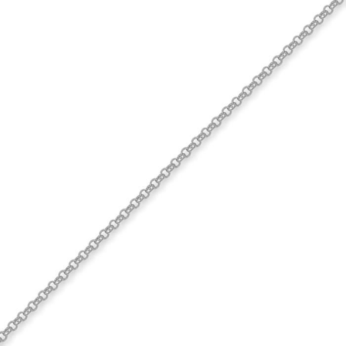 Jewelco London Argent sterling blanc Chaine de Belcher Collier