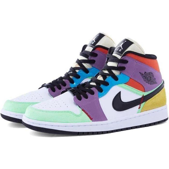 Nike jordan 1 multicolore - Cdiscount