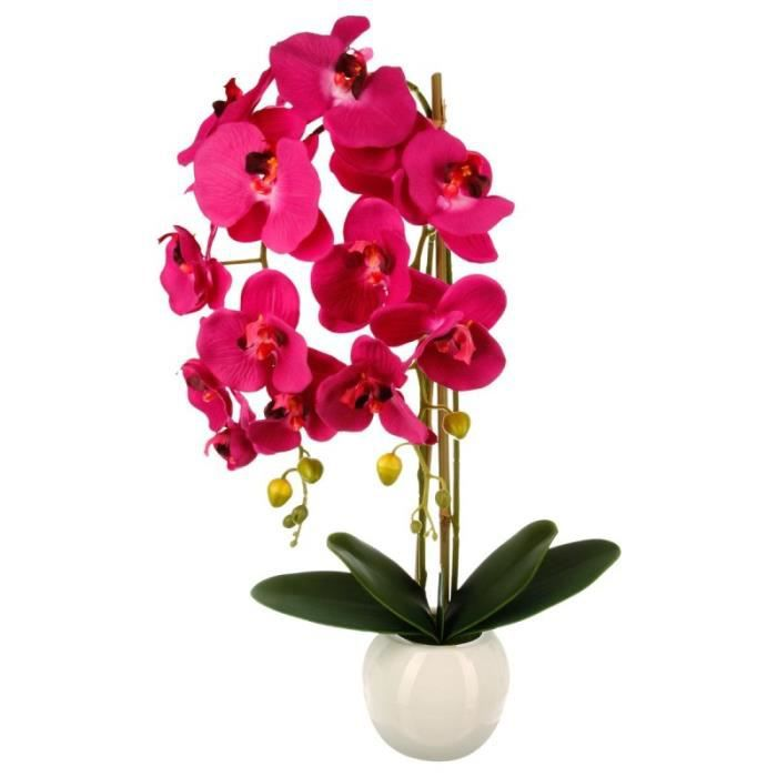 Paris prix plante artificielle orchid e 70cm rose for Plante 70 cm