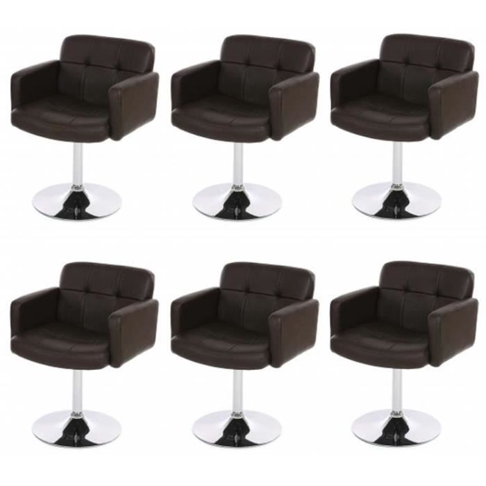 lot de 6 chaises salle manger tournant orland achat vente chaise cdiscount. Black Bedroom Furniture Sets. Home Design Ideas