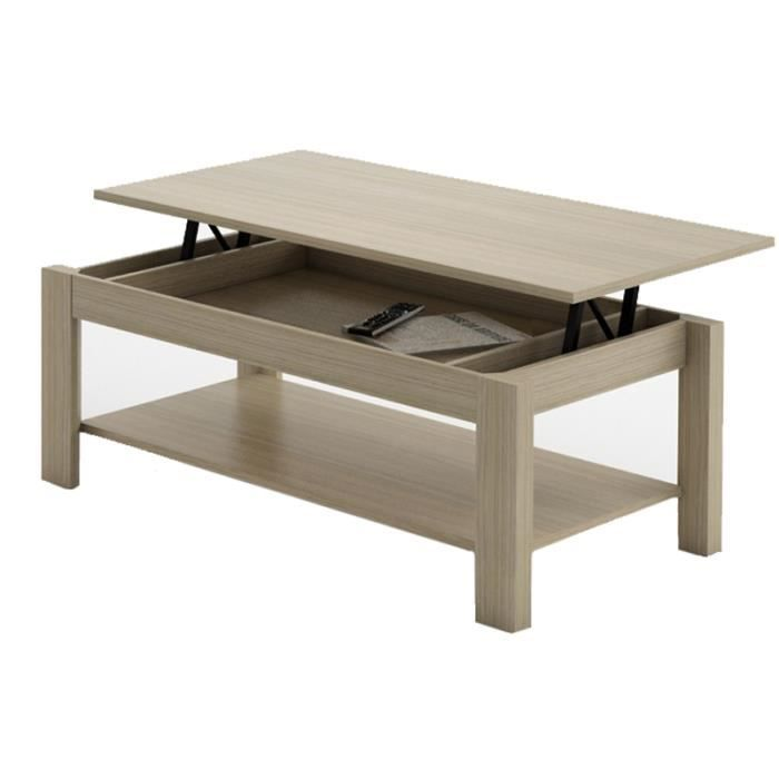 Table basse relevable oralia ch ne achat vente table basse table basse re - Table salon cdiscount ...