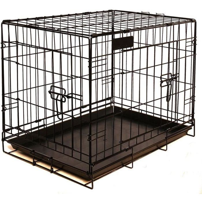 riga cage chien mm 60x43x50 chiens achat vente caisse de transport cage chien mm moyens. Black Bedroom Furniture Sets. Home Design Ideas