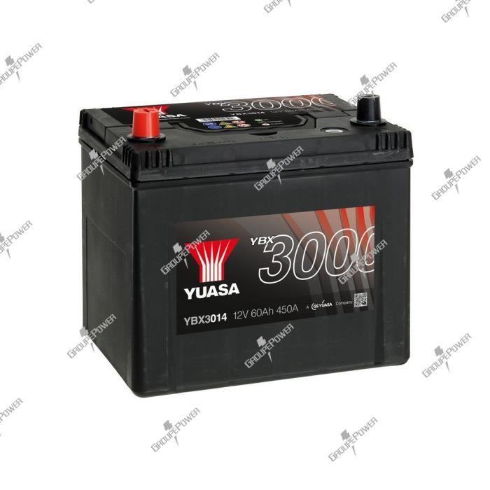 BATTERIE VÉHICULE Batterie auto, voiture YBX3014 12V 60Ah 450A Yuasa