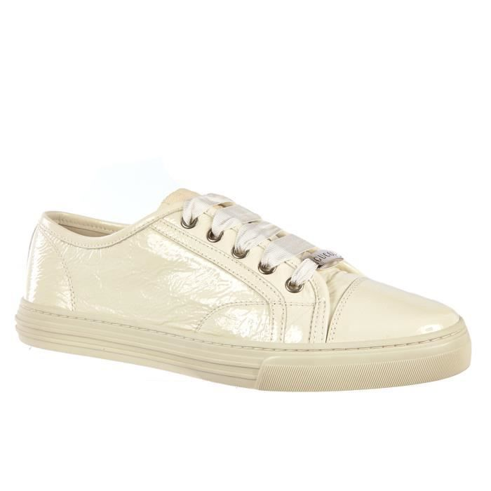 Chaussures baskets sneakers femme en cuir mystic white Gucci