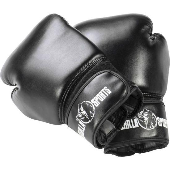 Gorilla Sports Starter Boxe Pack 6 Articles Sac de Frappe Gants de Boxe Bandes de Maintien Corde /à Sauter