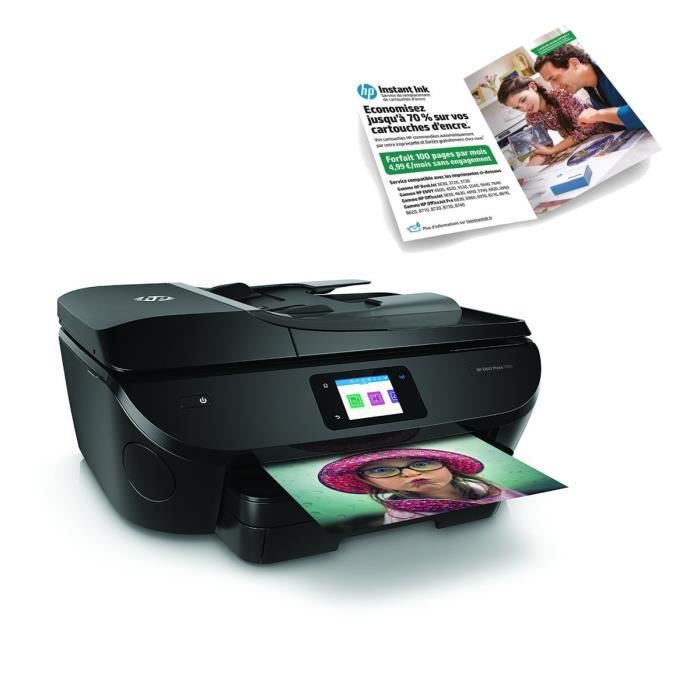HP Imprimante tout en un Envy Photo 7830 + Forfait Instant Ink 100 pages