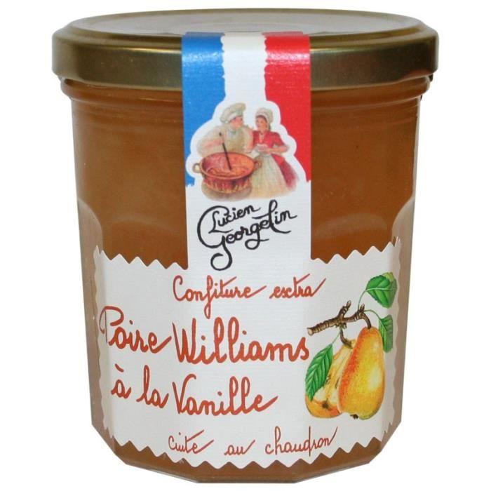 Confiture Extra de Poire Williams à la vanille 350g