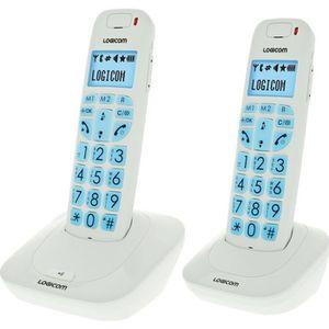 Téléphone fixe Logicom Confort 250 Duo Téléphone Sans Fil Sans Ré