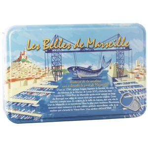 TOMATE BELLES DE MARSEILLE Coffret Métal 4 Boites Sardine