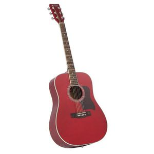 GUITARE WESTWOOD Guitare Folk 4/4 Rouge