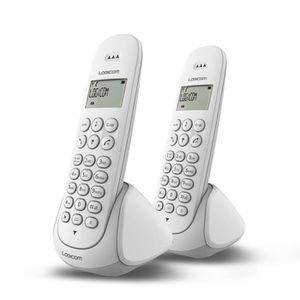 Téléphone fixe Logicom Aura 250 Duo Téléphone Sans Fil Sans Répon