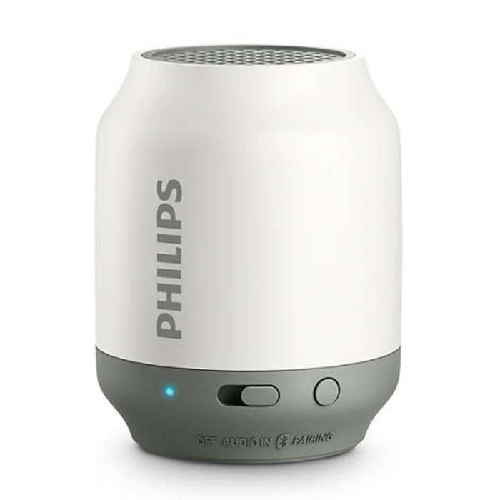 philips bt50w enceinte bluetooth portable blanc. Black Bedroom Furniture Sets. Home Design Ideas