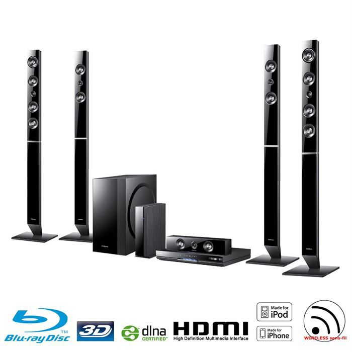 samsung ht d6750w home cin ma 7 1 blu ray 3d 1300w ensemble home cin ma avis et prix pas cher. Black Bedroom Furniture Sets. Home Design Ideas