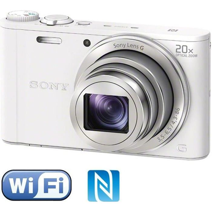 APPAREIL PHOTO COMPACT SONY DSC-WX350 Compact Blanc - CMOS 18 MP Zoom 20x