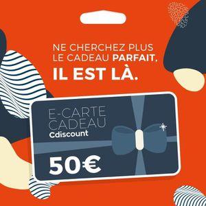 E-carte cadeau 50€ Cdiscount