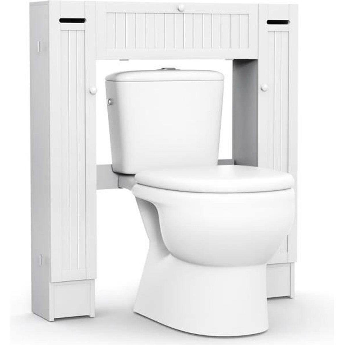 Toilette Gain De Place meuble wc armoire de toilette etagère de salle de bains pont
