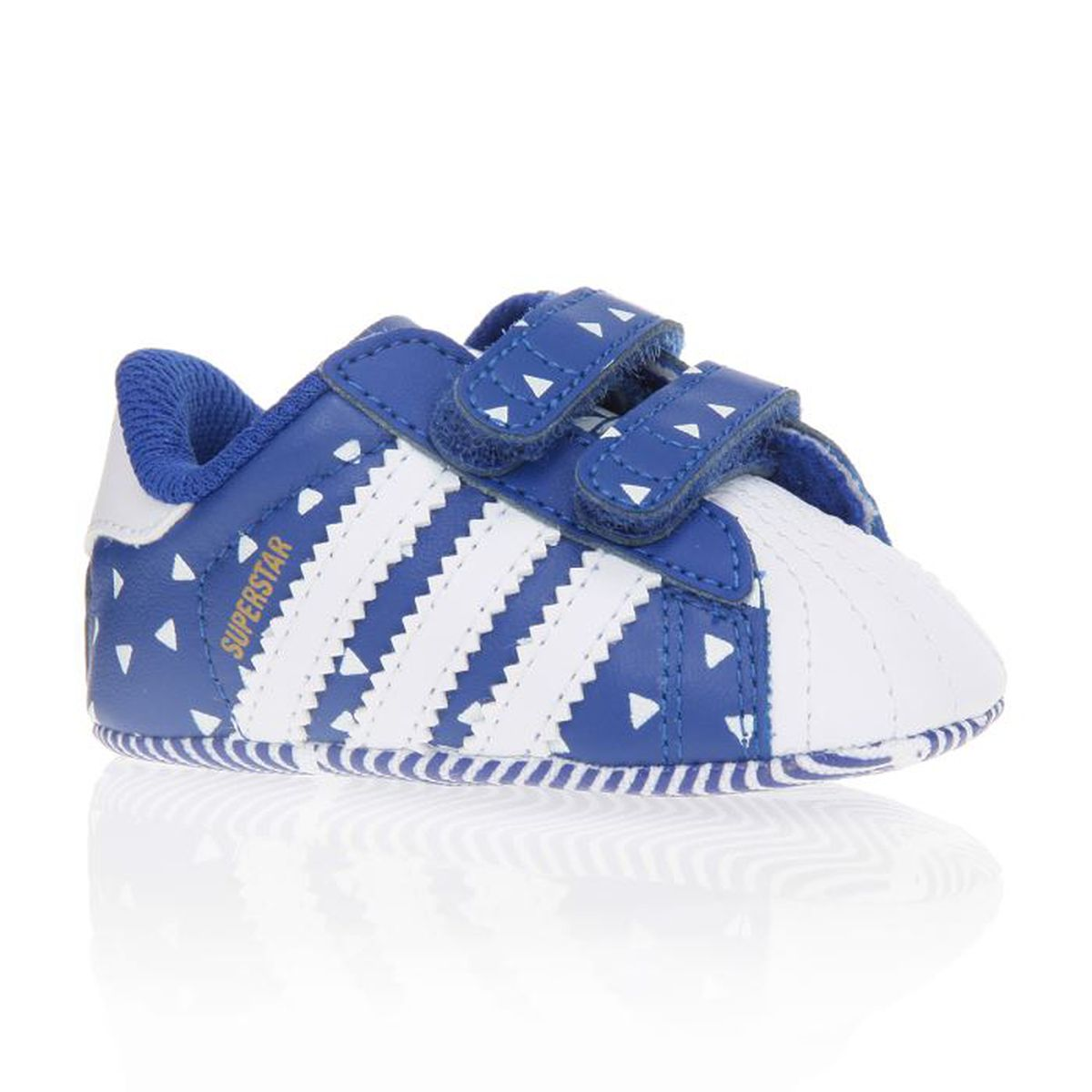 adidas originals baskets superstar crib chaussures b b gar on bleu et blanc achat vente. Black Bedroom Furniture Sets. Home Design Ideas