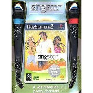 JEU PS2 SINGSTAR POP + 2 MICROS / JEU CONSOLE PS2