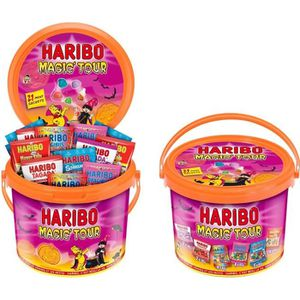 CONFISERIE DE SUCRE HARIBO Bonbons Seau Haribo Halloween Magic Tour 80
