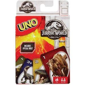 CARTES DE JEU Mattel Games Jurassic World UNO jeu de cartes