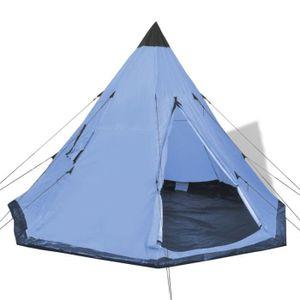TENTE DE CAMPING Tente pour 4 personnes Bleu  365 x 365 x 250 cm