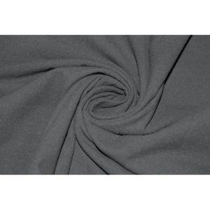 TISSU Tissu Coton Epais Uni Noir -Au Mètre