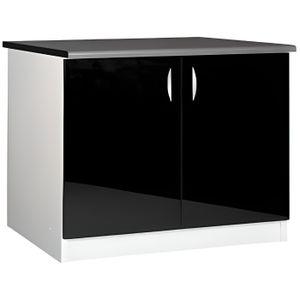 ELEMENTS BAS Meuble cuisine bas 120 cm 2 portes OXANE noir
