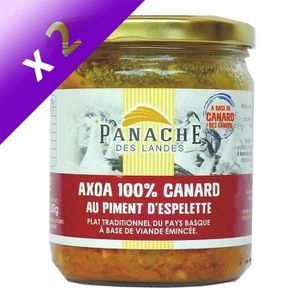 PLAT CUISINÉ VOLAILLE [LOT DE 2] PANACHE DES LANDES Axoa de Canard au Pi