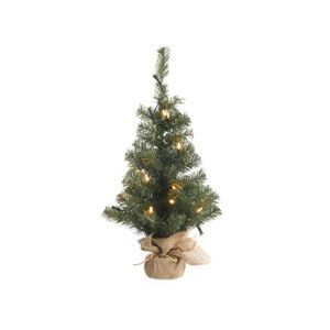 SAPIN - ARBRE DE NOËL Mini sapin artificiel LED sac en jute H.60cm CAMP