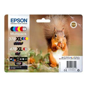 CARTOUCHE IMPRIMANTE EPSON 478XL Multipack - Pack de 6 - 60.5 ml - haut