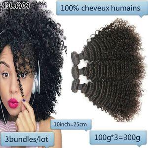 PERRUQUE - POSTICHE 3pcs 10pouce Afro crépus bouclés cheveux brésilien