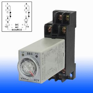 AC24V 10 S H3Y-2 Puissance sur relais temporisé à L/'état Solide Minuterie Double Pole Double Throw aucune base