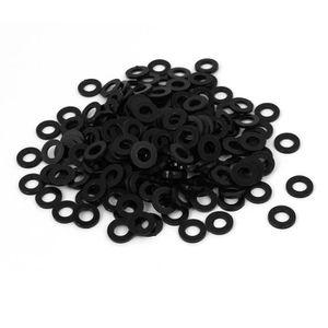 M4x8mmx1mm joints rondelles nylon Plat Pads noir fixation 100Pcs