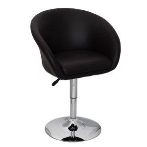 CHAISE Chaise pivotant Brun design Odyssey Fauteuil en cu