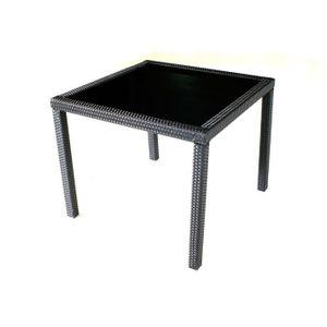 Table de jardin en résine tressée - Achat / Vente Table de ...