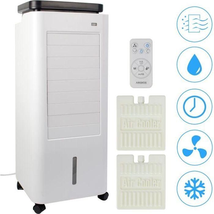 AREBOS Climatiseur 4en1 Climatiseur Mobile 5,5 litres Purificateur d'air Ventilateur