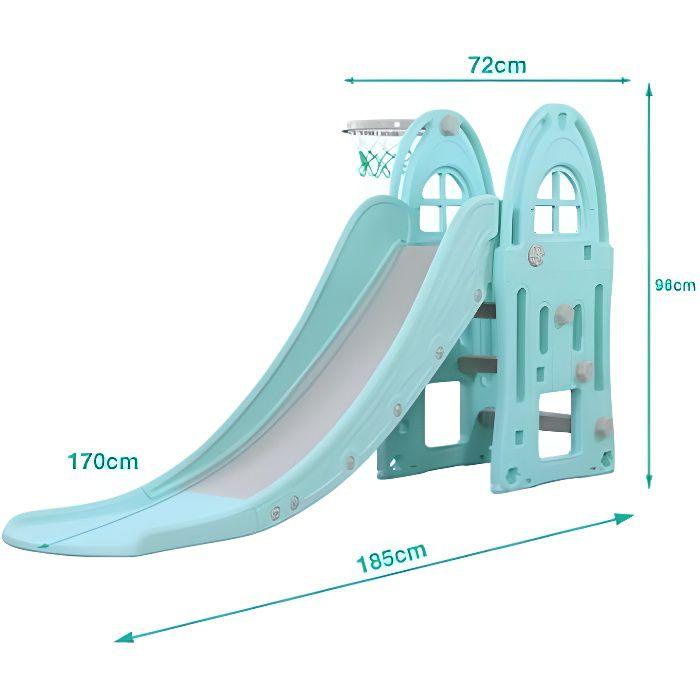 Toboggan XL Bleu - Jeux et jouets pour enfants plein air