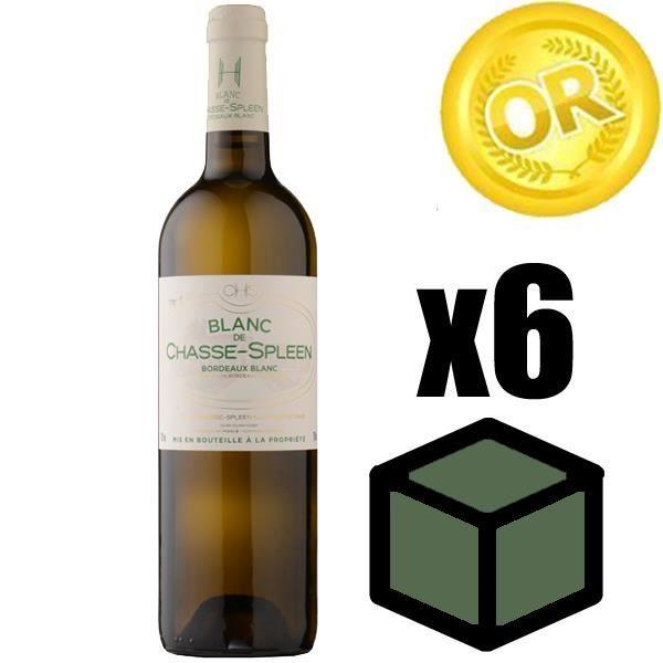 X6 Blanc de Chasse Spleen 2016 75 cl AOC Bordeaux Blanc Sec Vin Blanc