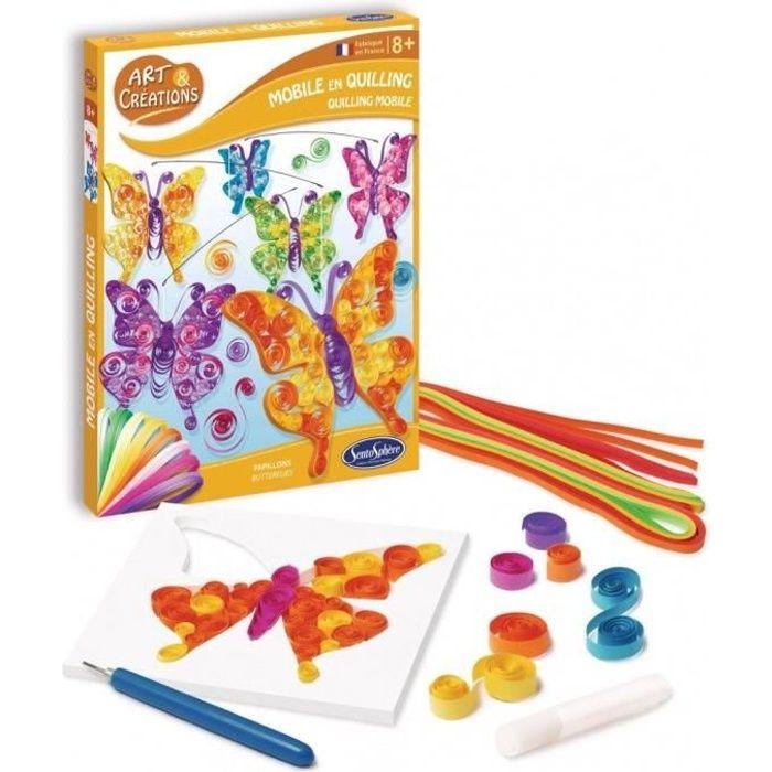 SENTOSPHERE Mobile Quilling Papillons - Pour Enfant