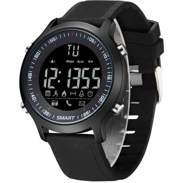 Montre hommes outdoor sports Réveil Bluetooth imperméable Lumineux Intelligente montres