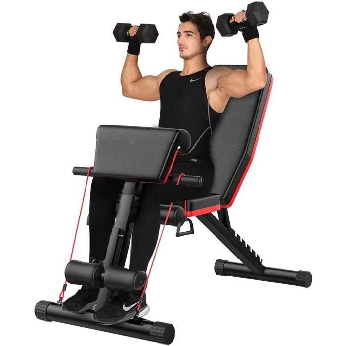 BANC DE MUSCULATION WZ Banc Musculation Pliable Multifonction pour Lentraicircnement Complet du Corps Capaciteacute Maximale 660452