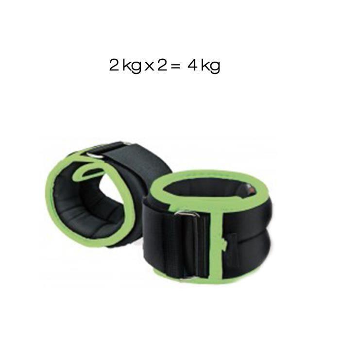 Poids de cheville et de poignet 2 x 2 kg