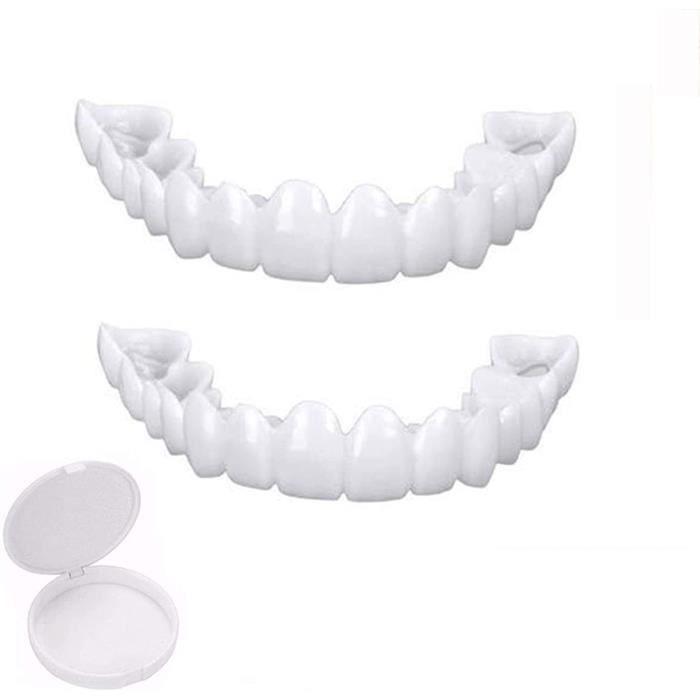 Placage Instantan&eacutees Dents De Sourire Sup&eacuterieures, Amovible Naturel Fausse Dents Provisoire Facette Dentaire Pour
